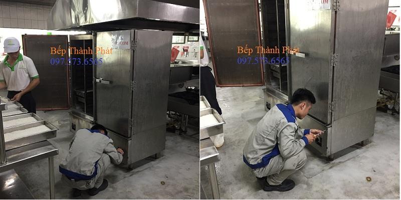 sửa tủ cơm công nghiệp gas