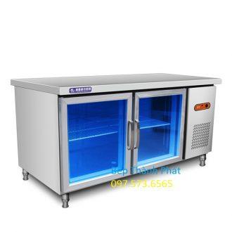 bàn lạnh công nghiệp cánh kính