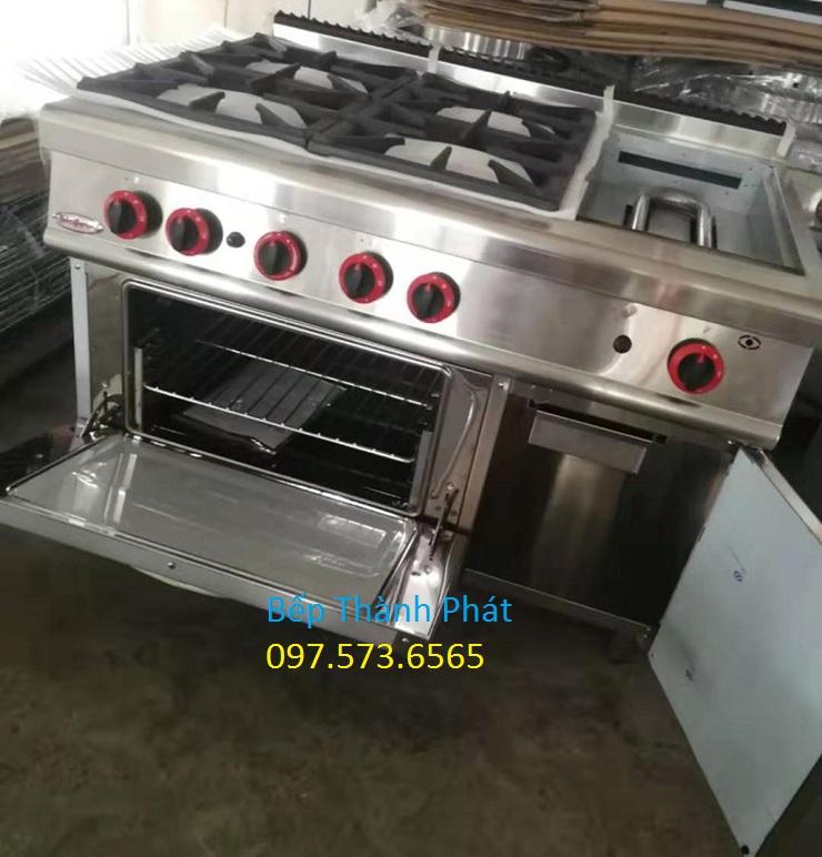 bếp âu 4 có lò nướng kèm nướng phẳng 1