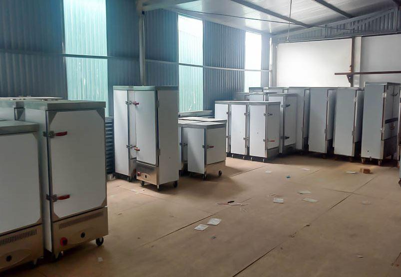 Tủ hấp cơm công nghiệp 12 khay Việt Nam chất lượng, uy tín